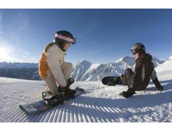 Урок по сноуборду для ребенка