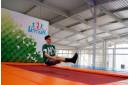 Занятие по прыжкам на батуте
