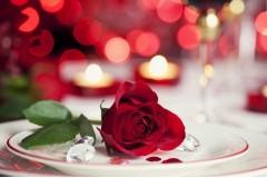 Оформление романтического ужина