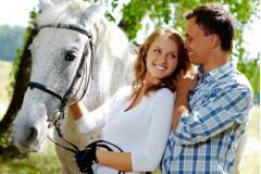 Семейная конная прогулка