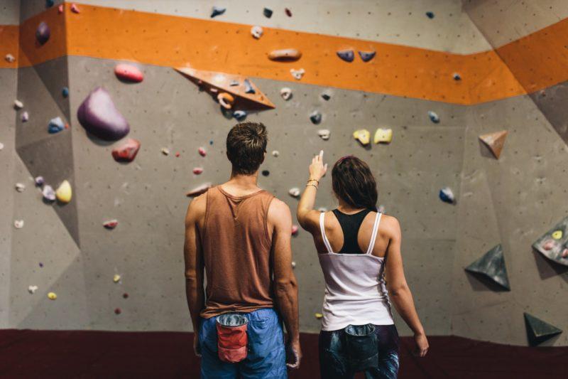 Урок скалолазания для двоих