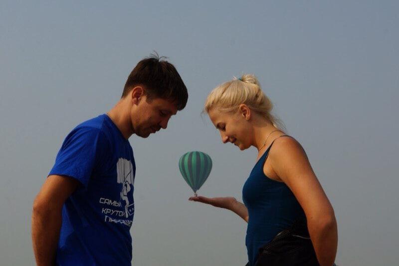 Полет на воздушном шаре для двоих