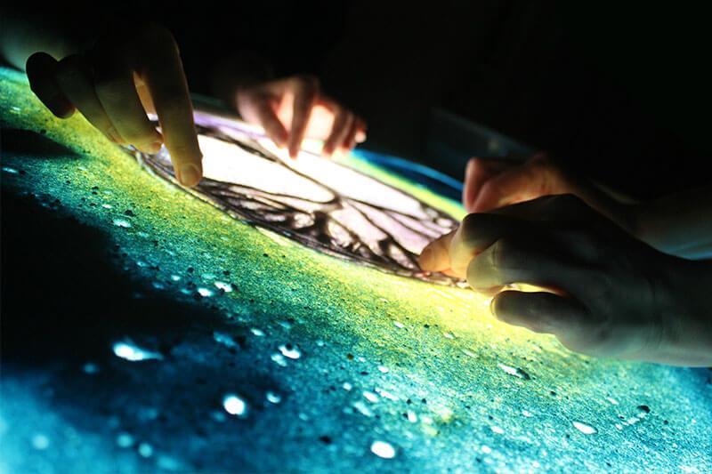 Рисование песком — Сеанс творческой релаксации