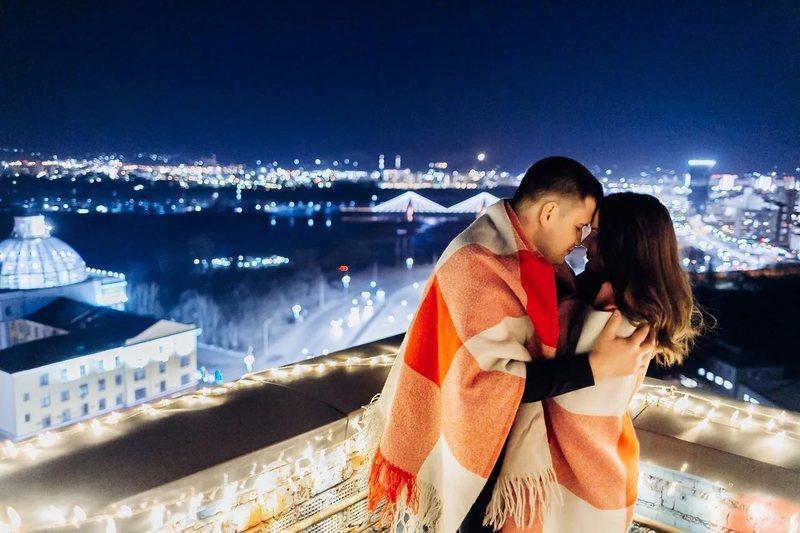 Незабываемое свидание на крыше